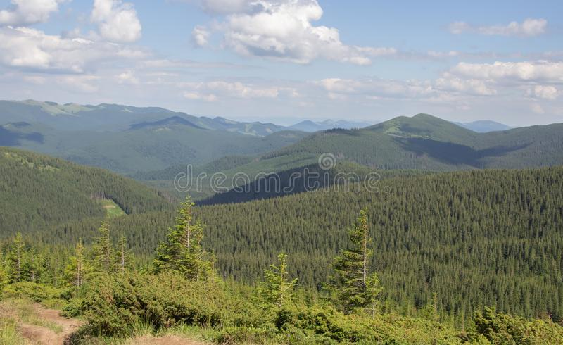 From Petros and Hoverla to Pop Ivan on the Montenegrin ridge royalty free stock image