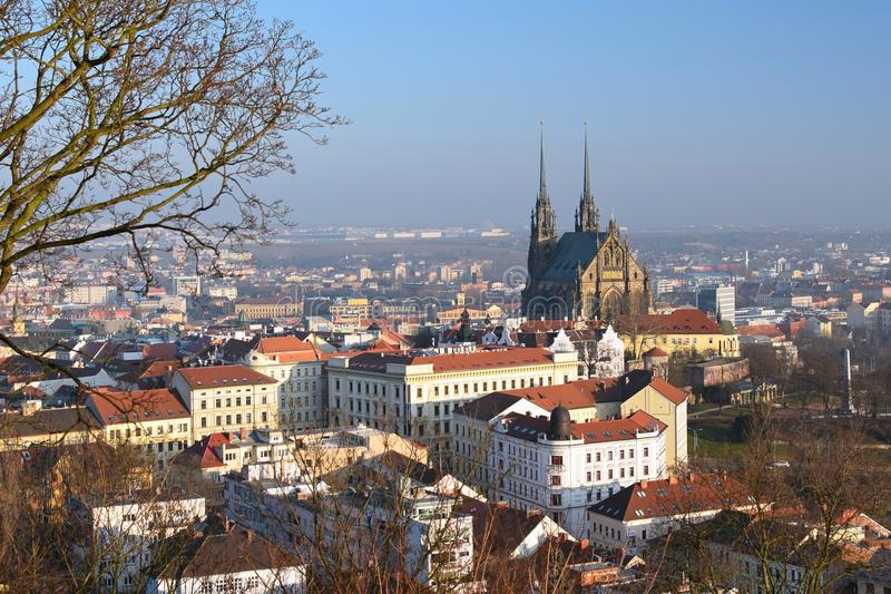 Petrov - St. Peters and Paul church in Brno. Central Europe Czech Republic. South-Moravian region. Architecture stock images