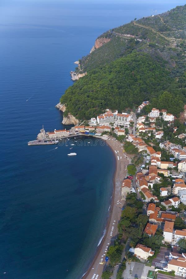 Petrovac, Montenegro stock afbeelding