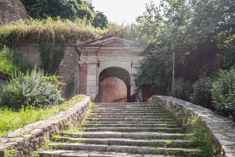Petrovaradin, Сербия - 17-ое июля 2019: Крепость Petrovaradin; стоковое фото