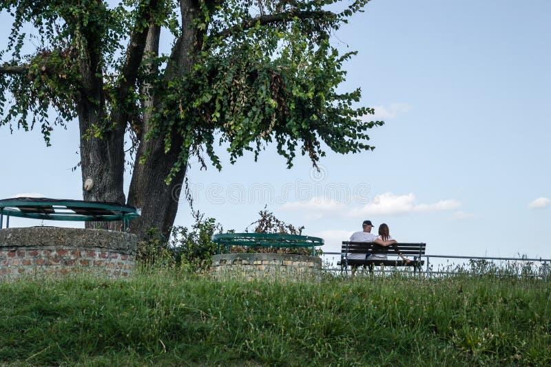 Petrovaradin, Сербия - 17-ое июля 2019: Крепость Petrovaradin; стоковое фото rf