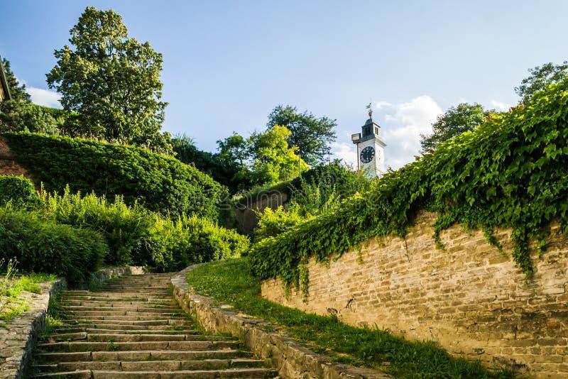 Petrovaradin, Сербия - 17-ое июля 2019: Крепость Petrovaradin; стоковые фотографии rf