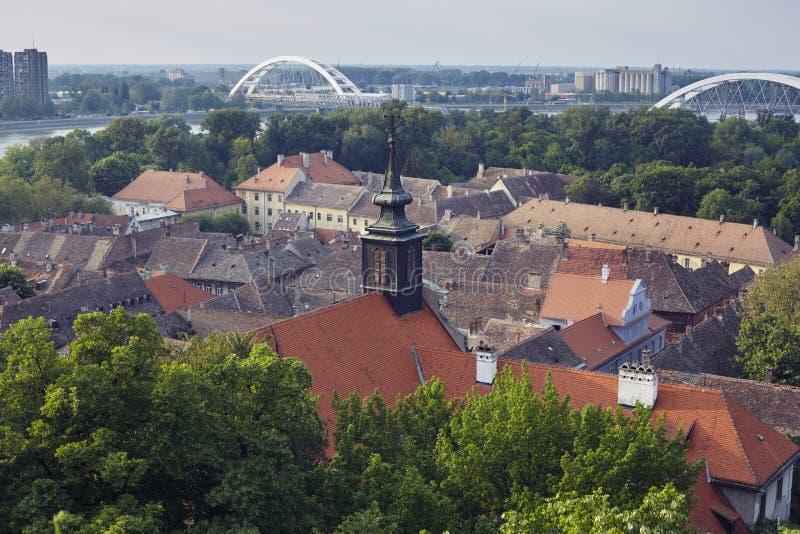 Petrovaradin-Dachspitzen lizenzfreies stockbild