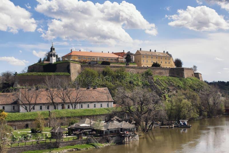 Petrovaradin fästning arkivfoton