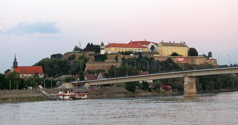 Petrovaradin-Festung nahe Novi Sad, Serbien lizenzfreie stockfotografie