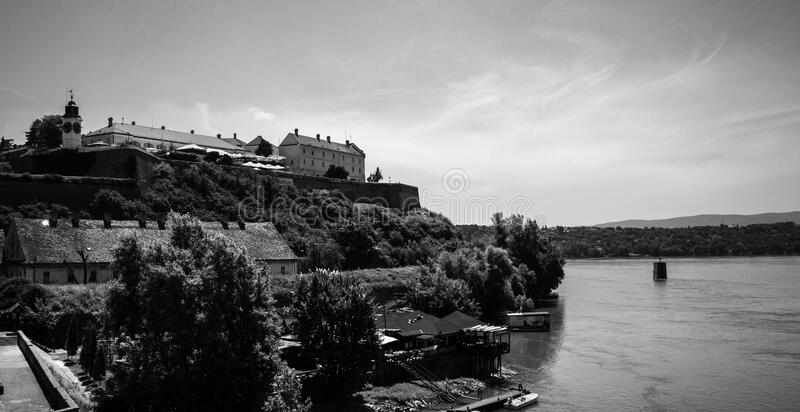 Petrovaradin Fortress and the Clock - Novi Sad - Serbia stock images