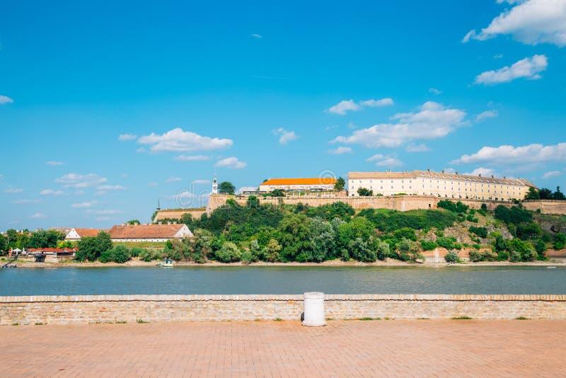 Petrovaradin Fortress on Danube river in Novi Sad, Serbia royalty free stock photography