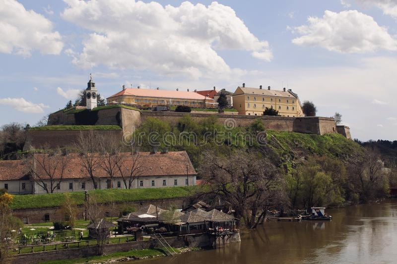 Petrovaradin Frotress in Novi Sad, Serbia. Famous for it's music festival royalty free stock photo
