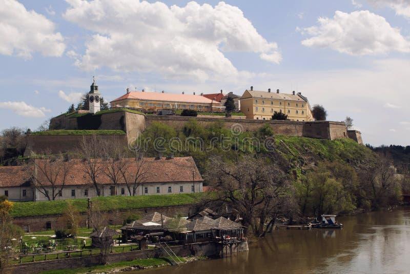 Petrovaradin Frotress in Novi Sad, Servië royalty-vrije stock foto