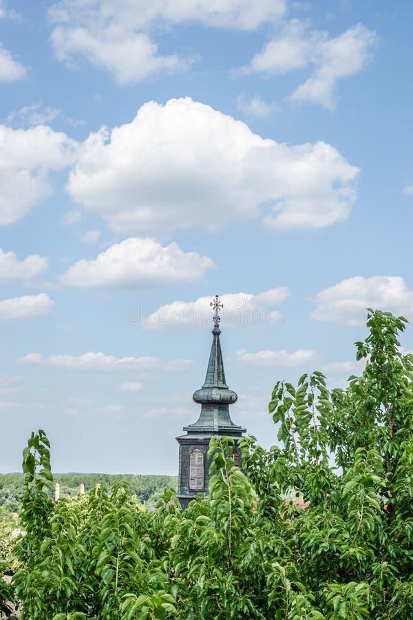 Petrovaradin Serbien - Juli 17 2019: Petrovaradin fästning arkivbild