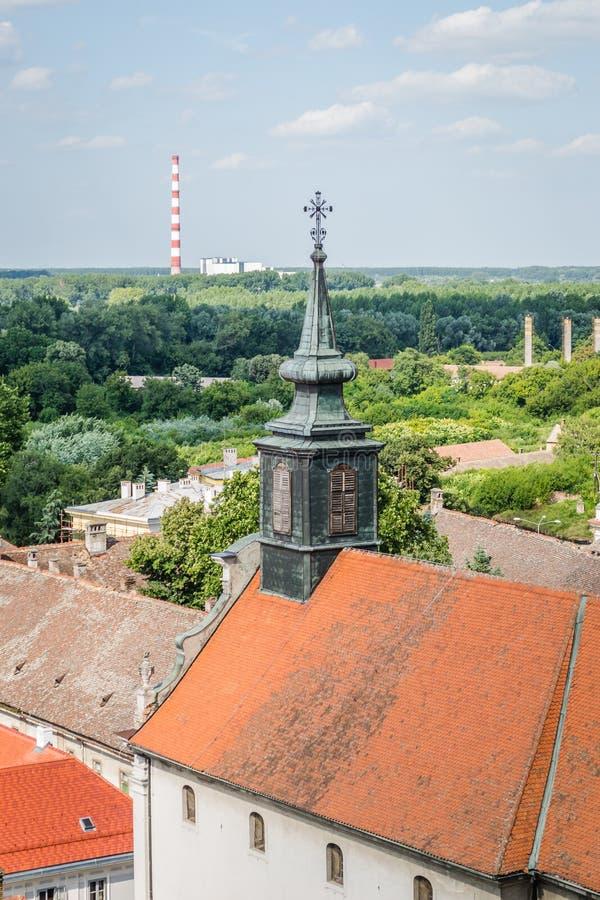 Petrovaradin Serbien - Juli 17 2019: Petrovaradin fästning fotografering för bildbyråer