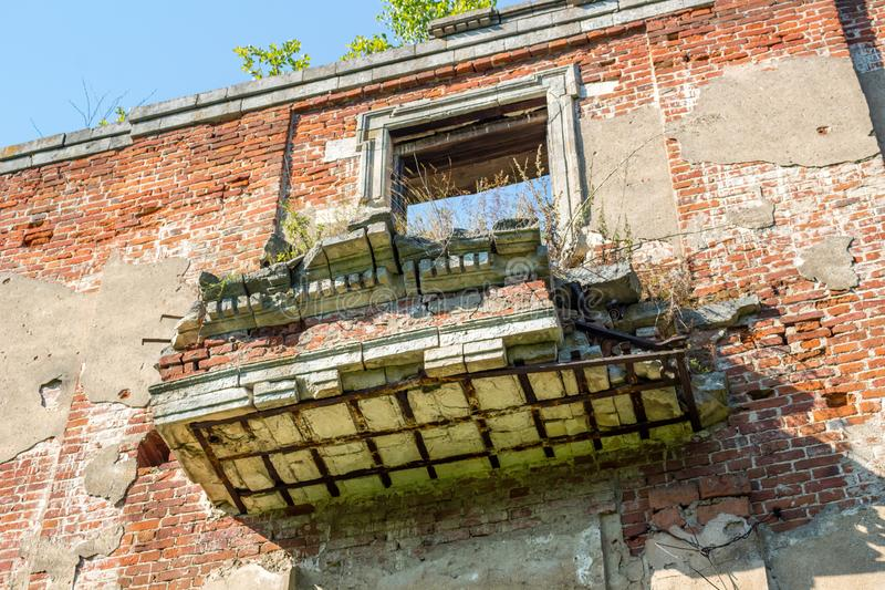 Petrovskoe-Alabino Estate - the ruins of an abandoned farmstead at the end of the 18th century stock images