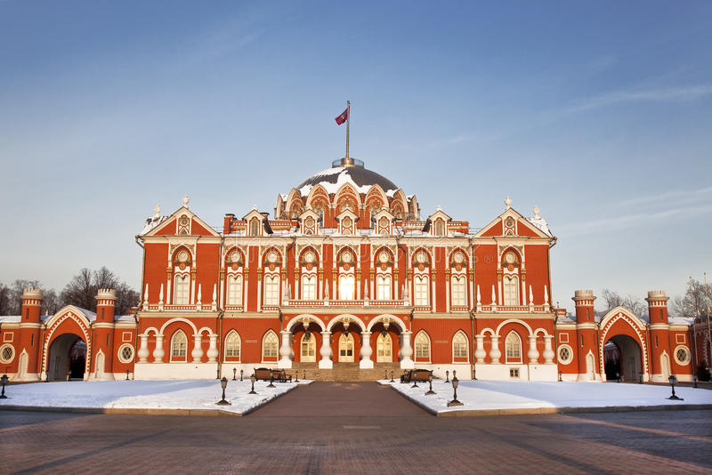 Petrovsky Palace. Russia, Moscow. The Palace was built in the XVIII century royalty free stock photos