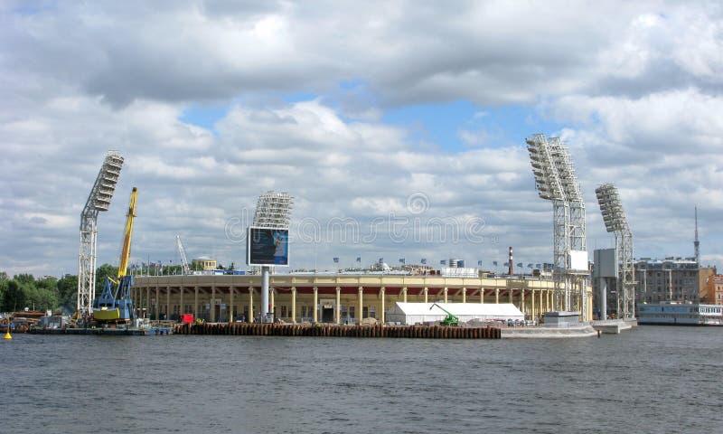 Petrovsky-Sport-Komplex und Stadion, St Petersburg, Russland stockfotos