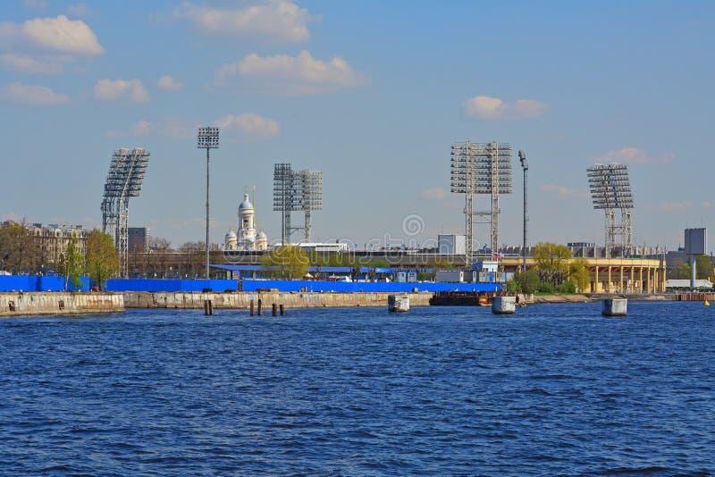 Petrovsky-Stadion in St Petersburg, Russland lizenzfreie stockfotografie