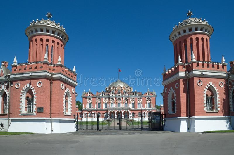 Petrovsky Travelling Palace in Moscow, Russia stock photos