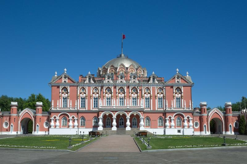 Petrovsky Travelling Palace in Moscow, Russia stock photo