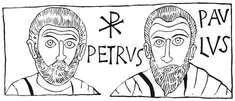 Petrus Paulus (vector) stock illustration