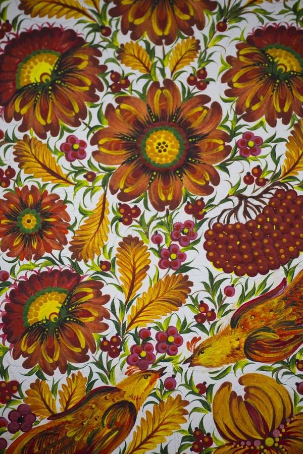 Petrykivka decorative painting stock photos