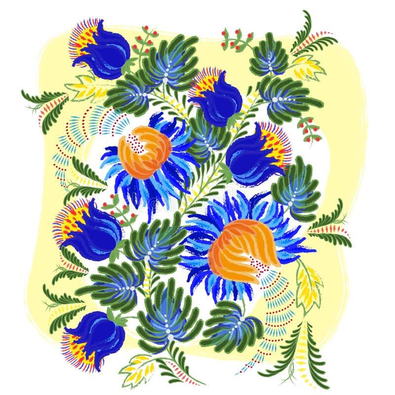 Petrykivsky obraz ilustracja wektor