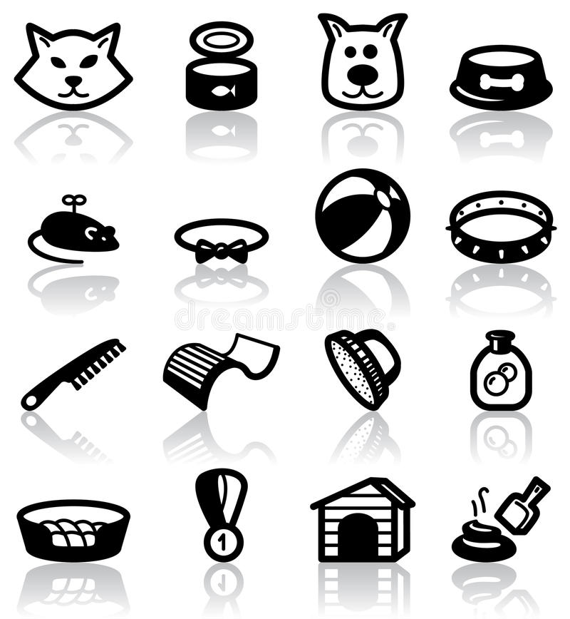 Download Pets stock vector. Illustration of equipment, icon, black - 16220900