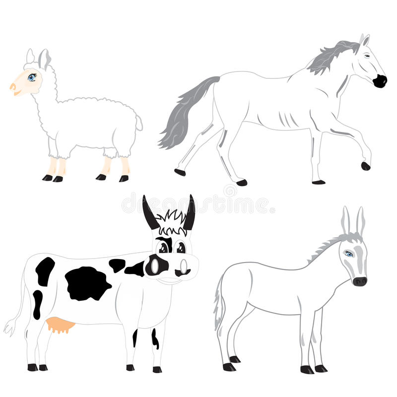 Download Pets animals stock vector. Image of farm, animals, breeding - 24263165