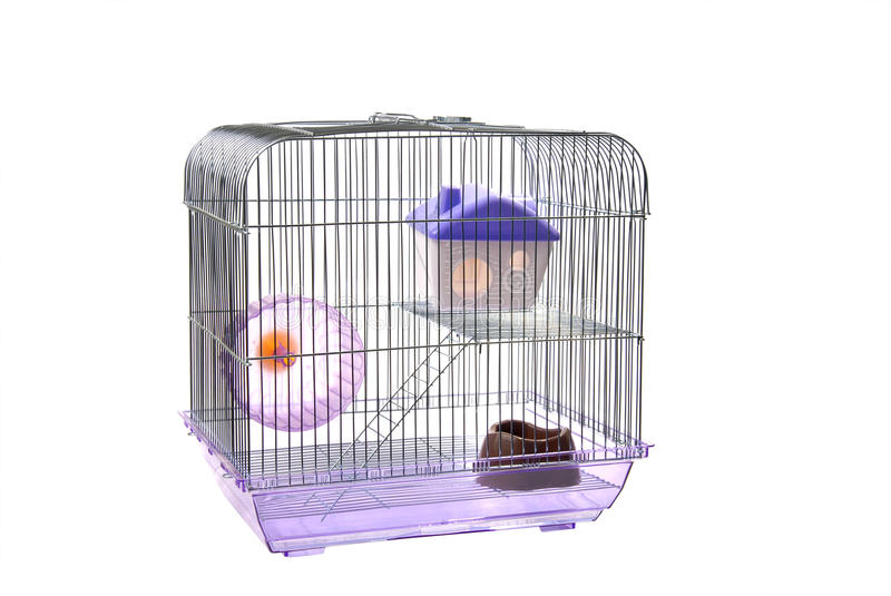 Pets cage on a white. Pets cage. Isolated on a white royalty free stock photography