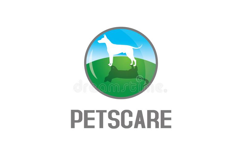 Pets care logo stock illustration