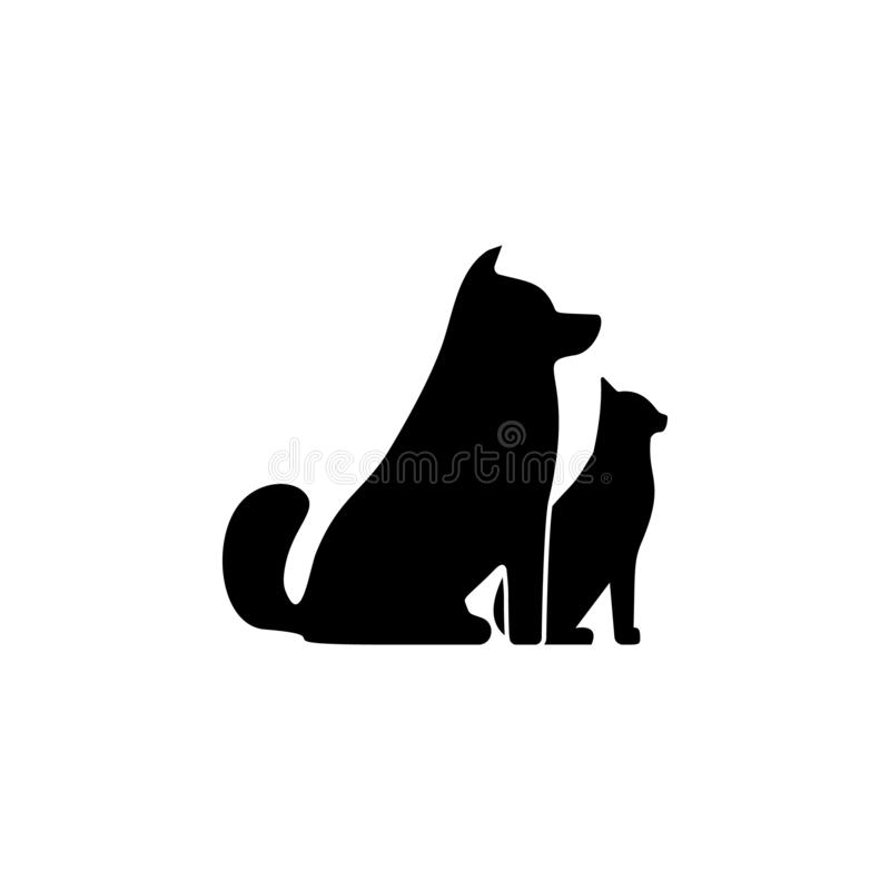 Pets, cat, dog icon. Simple glyph vector of universal set icons for UI and UX, website or mobile application. On white background vector illustration