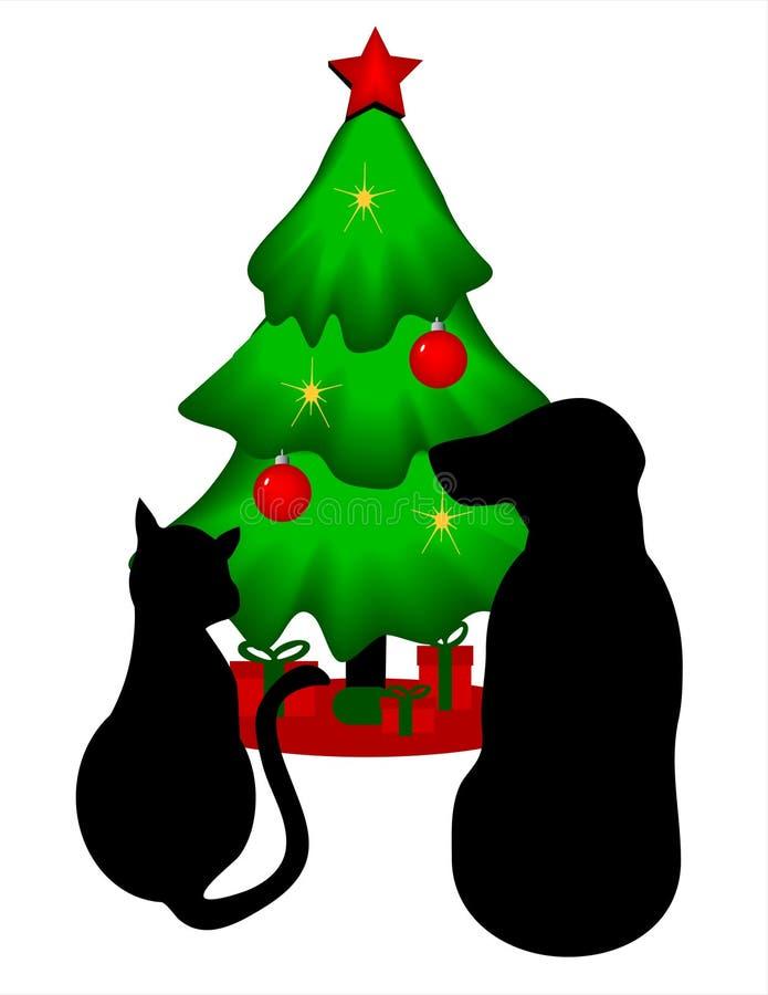 Pets Christmas Stock Image