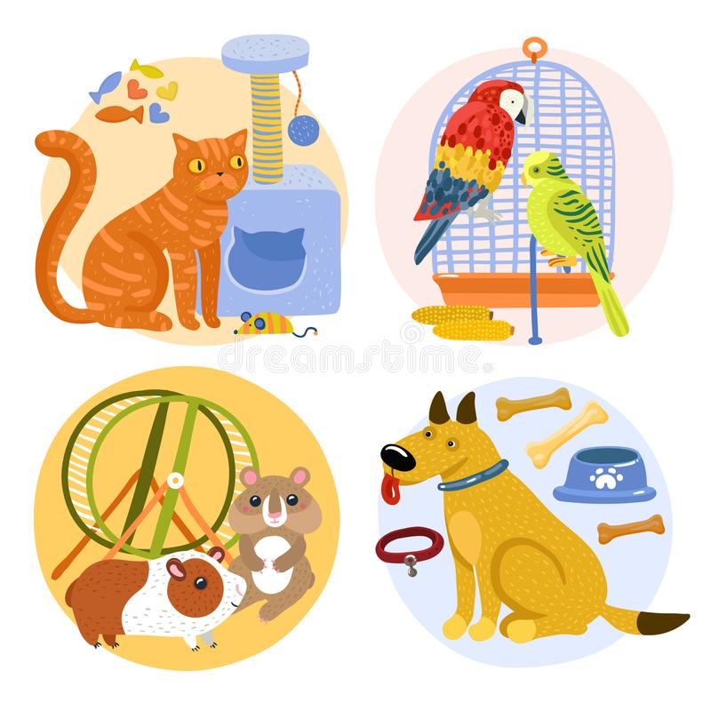 Pets Design Concept vector illustration