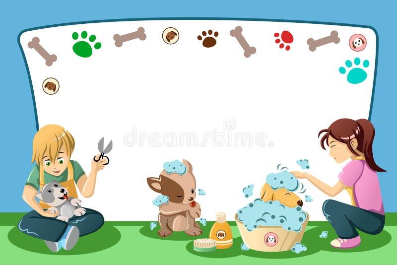 Download Pets Grooming Advertisement Stock Vector - Image: 34335710