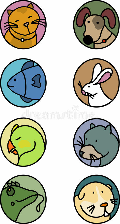 Pets Icons Royalty Free Stock Images