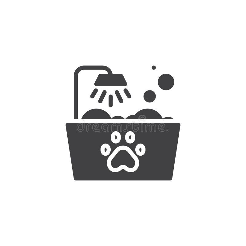 Pets il vettore dell'icona del bagno illustrazione di stock