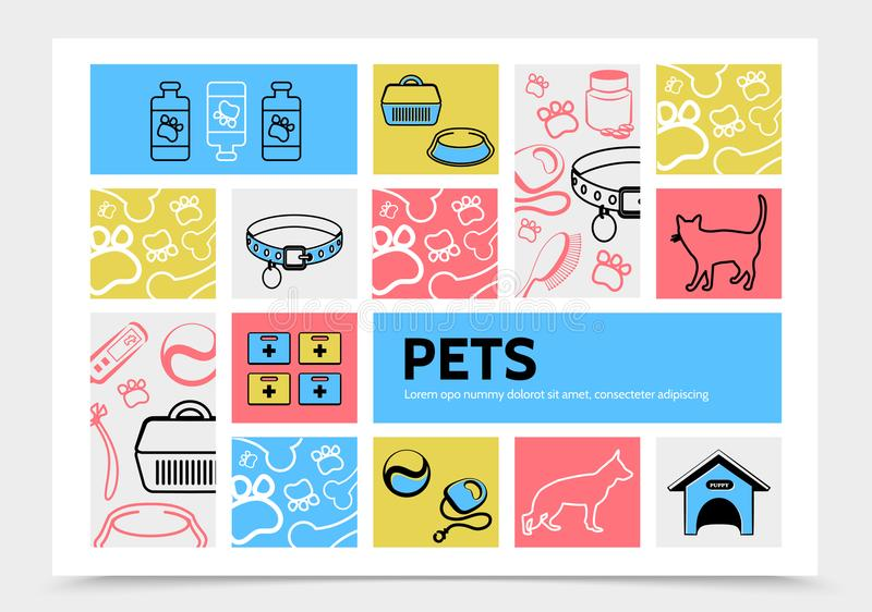 Pets Infographic Template royalty free illustration