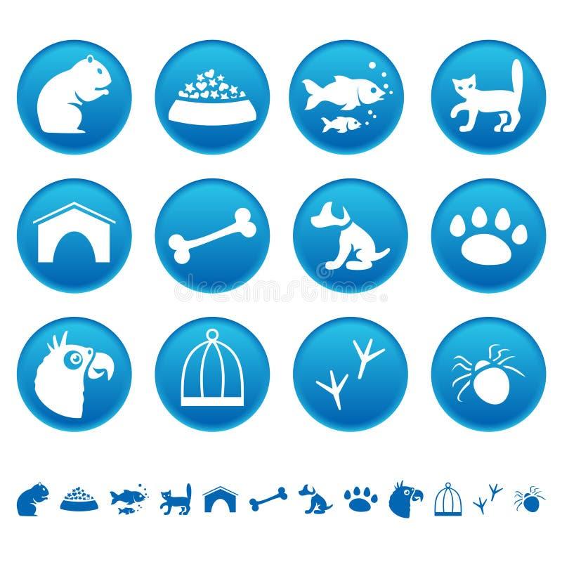 Pets le icone illustrazione vettoriale