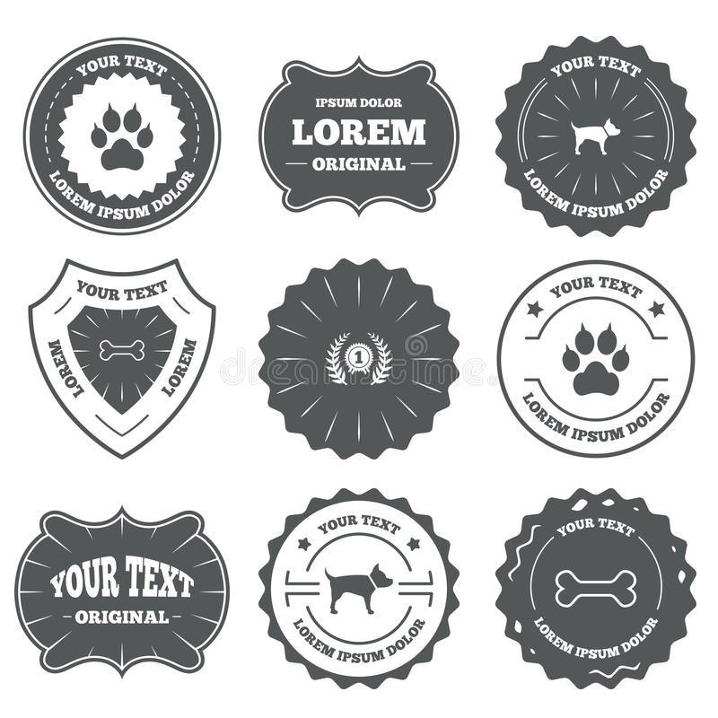 Pets le icone Zampa del gatto con il segno delle frizioni royalty illustrazione gratis