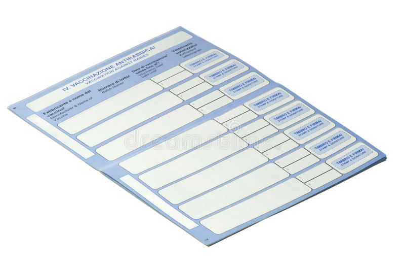 Download Pets passport stock photo. Image of fingerprint, vaccine - 25307746