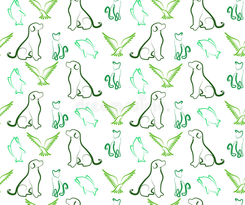 Pets Pattern Tile Stock Image