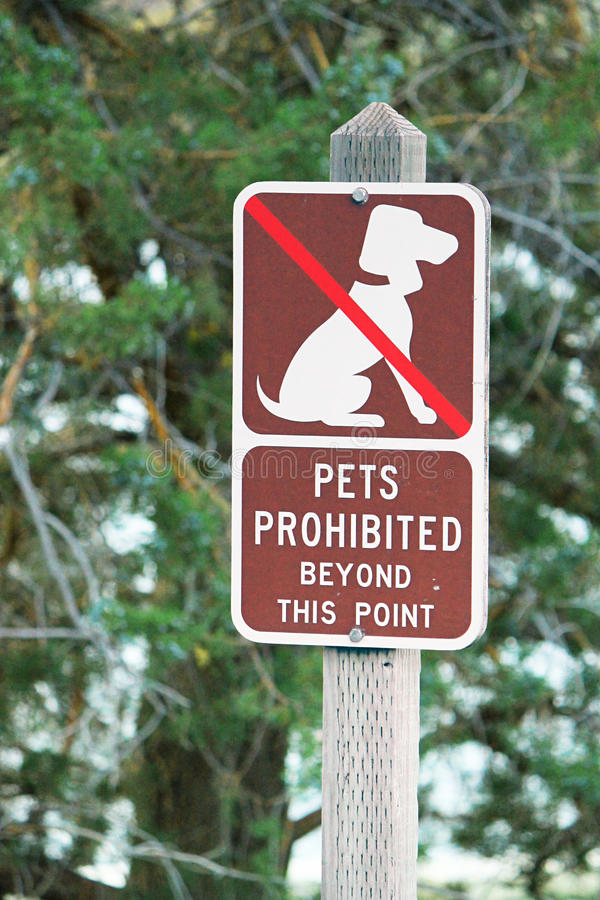 Download Pets Prohibited sign stock image. Image of animals, prohibited - 26367569