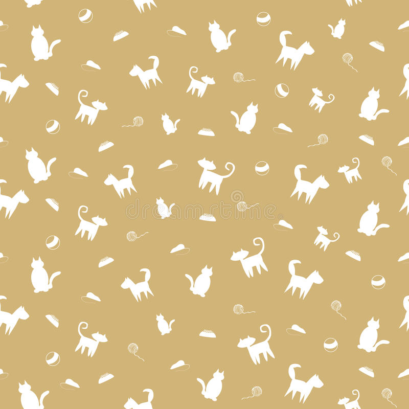 Pets Seamless Pattern Royalty Free Stock Photography