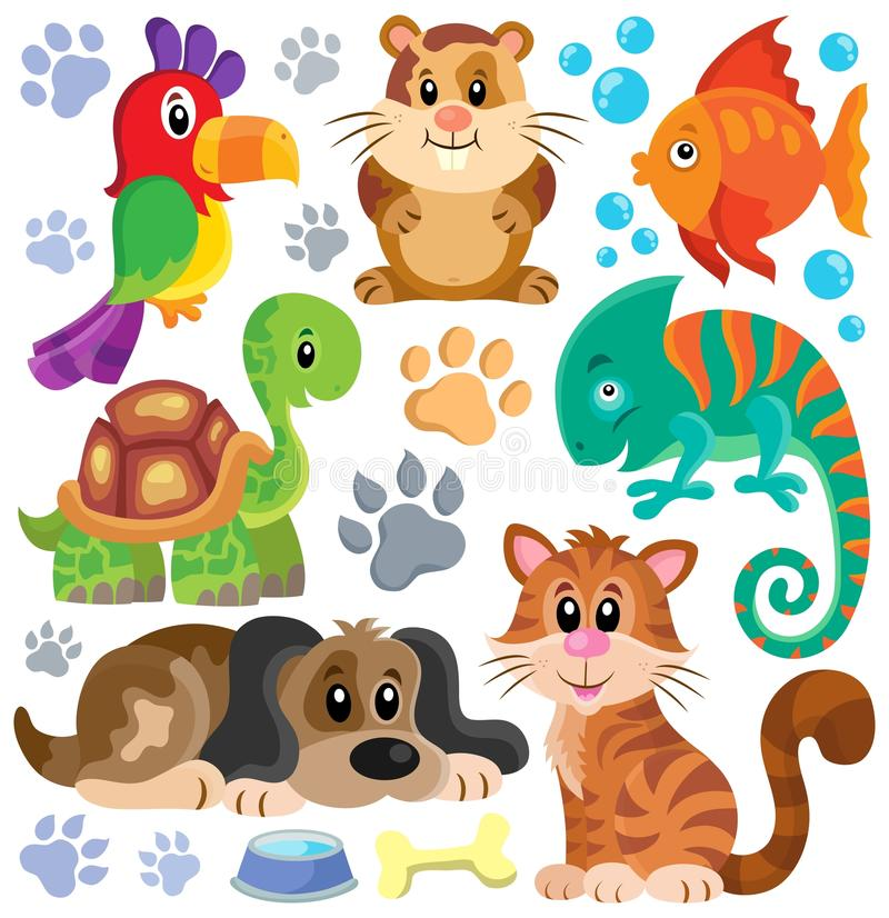 Pets theme collection 1 royalty free illustration