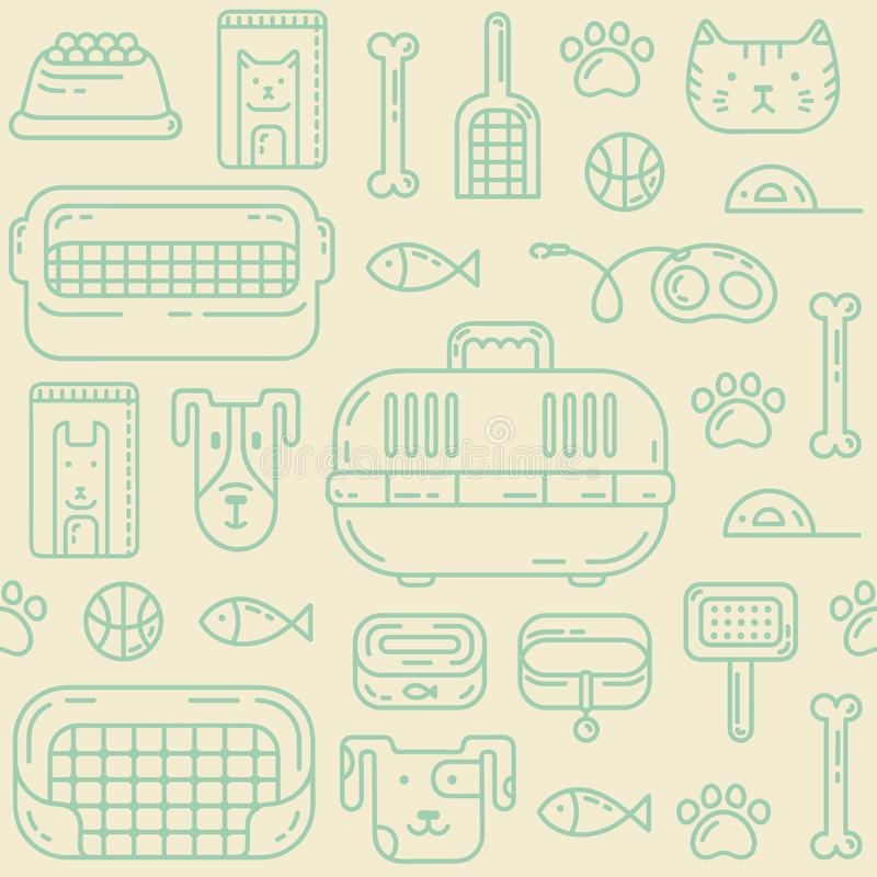 Petshop modell stock illustrationer
