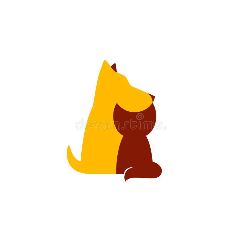 Petshop o logotipo veterinario de la clínica ilustración del vector