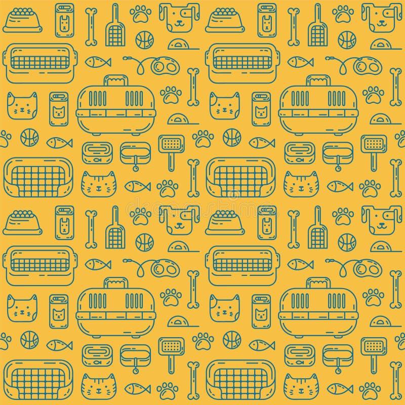 Petshoppatroon vector illustratie