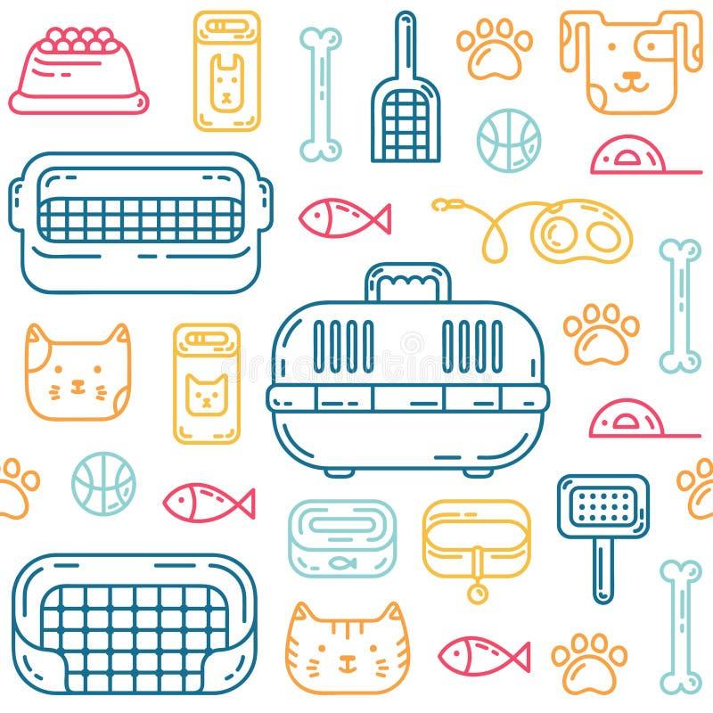 Petshoppatroon royalty-vrije illustratie