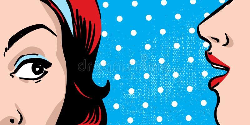 Pettegolezzo della donna illustrazione di stock