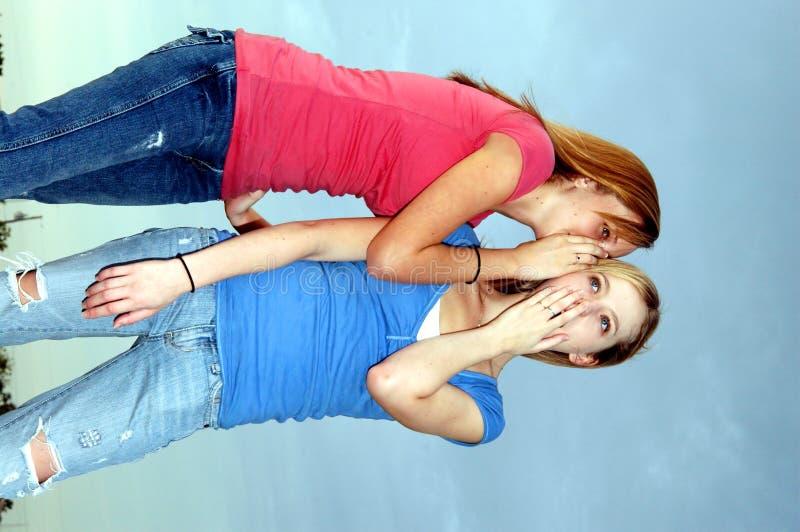 Pettegolezzo teenager fotografie stock