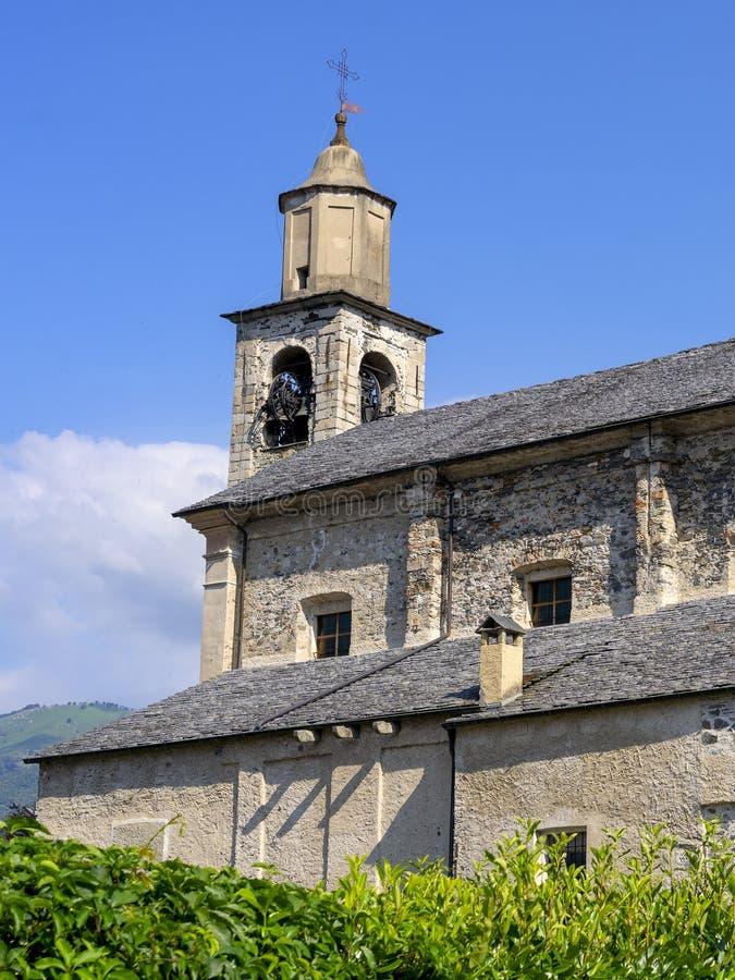 Pettenasco, italy: historic church. Pettenasco, Verbano Cusio Ossola, Piedmont, Italy: exterior of the historic Santa Caterina church stock photos