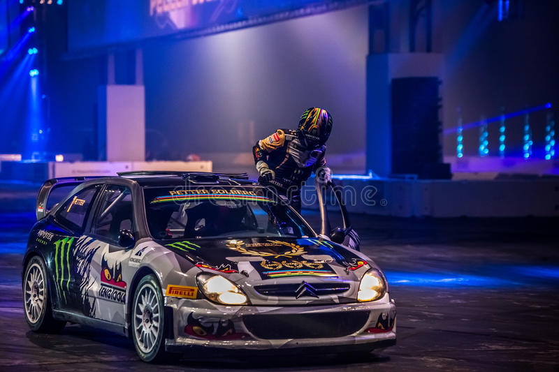 Petter Solberg at Autosport International 2016 royalty free stock photography